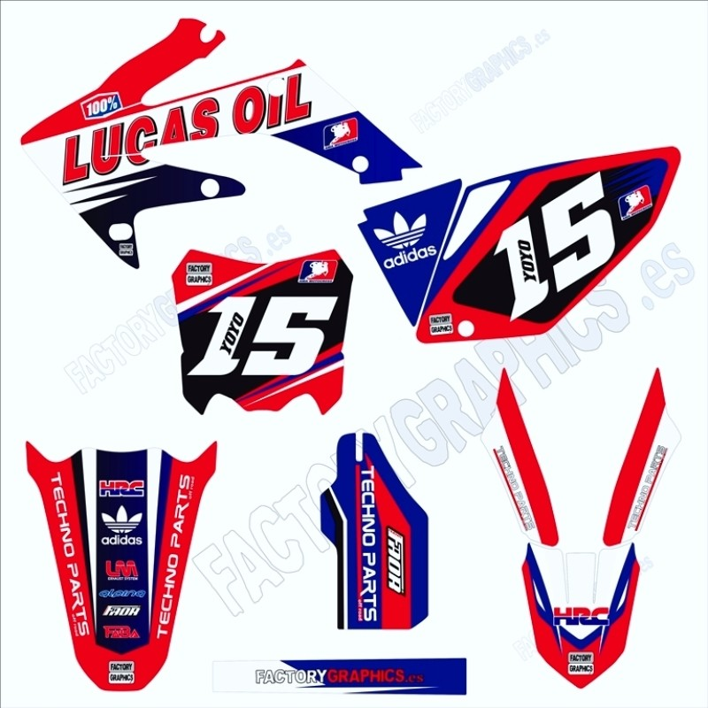 adhesivos kit HONDA Lucas Oil