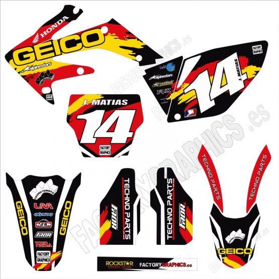 Kit adhesivos moto Honda 4