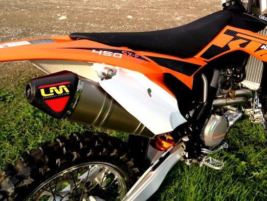 Escape Lm Ktm sxf 450 titanio