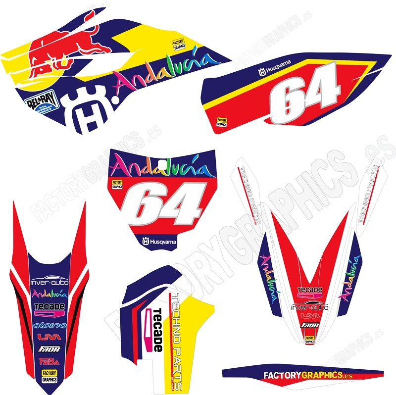 HUSQVARNA Kit adhesivos Red Bull