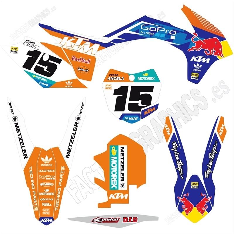 KTM Kit adhesivos 174 Red Bull