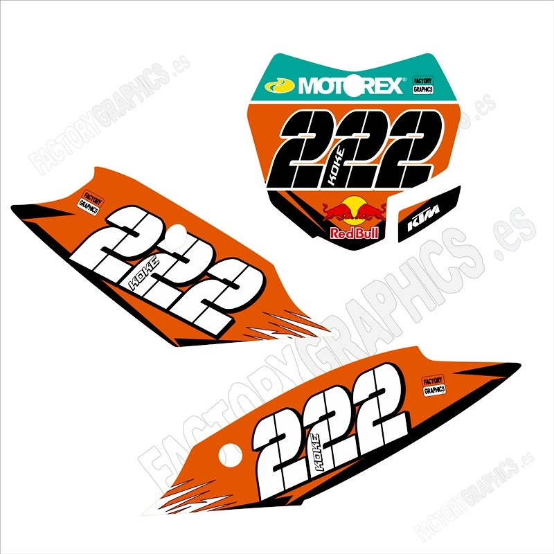 KTM Kit adhesivos portanúmeros 187